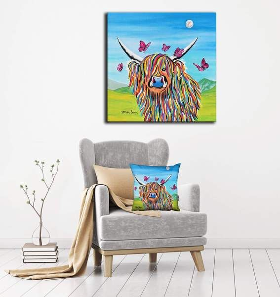 Chloe mccoo highland cow massive canvas on steven brown art