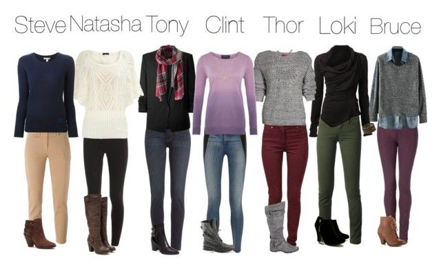 """""""Winter Avengers Outfits"""" by liv4marvel94 on Polyvore featuring Dolce&Gabbana, Maison Margiela, MARC LE BIHAN, Forever 21, Tommy Hilfiger, Boohoo, DANNIJO, Paige Denim, Helmut Lang and Splendid"""