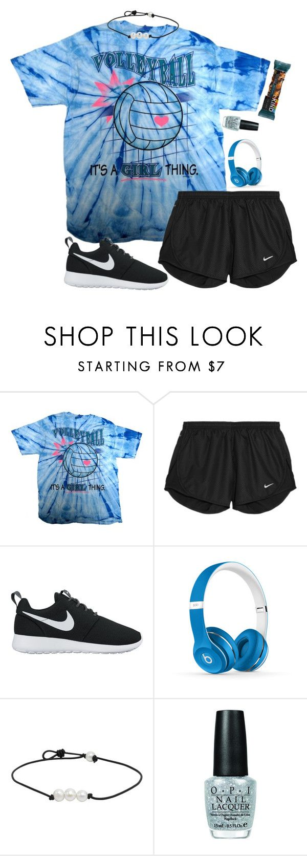 """Your ripped at every edge but your a masterpiece"" by labures on Polyvore featuring NIKE, Beats by Dr. Dre and OPI"