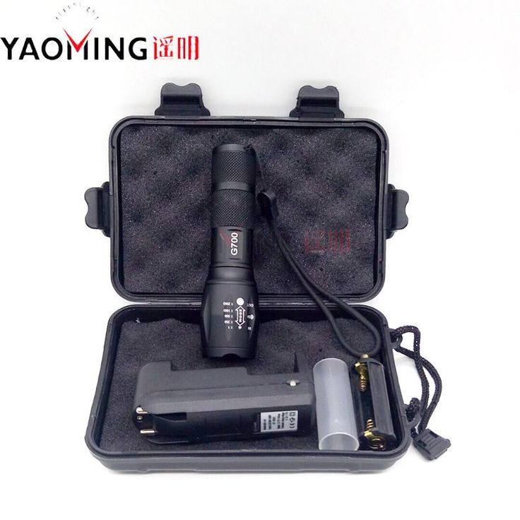 Gift Box CREE XML T6 3800LM Tactical Led Flashlight Powerful Rechargeable Led Lamp Torch Lantern Police Light By 18650 / 3 x AAA //Price: $11.54//     #shopping