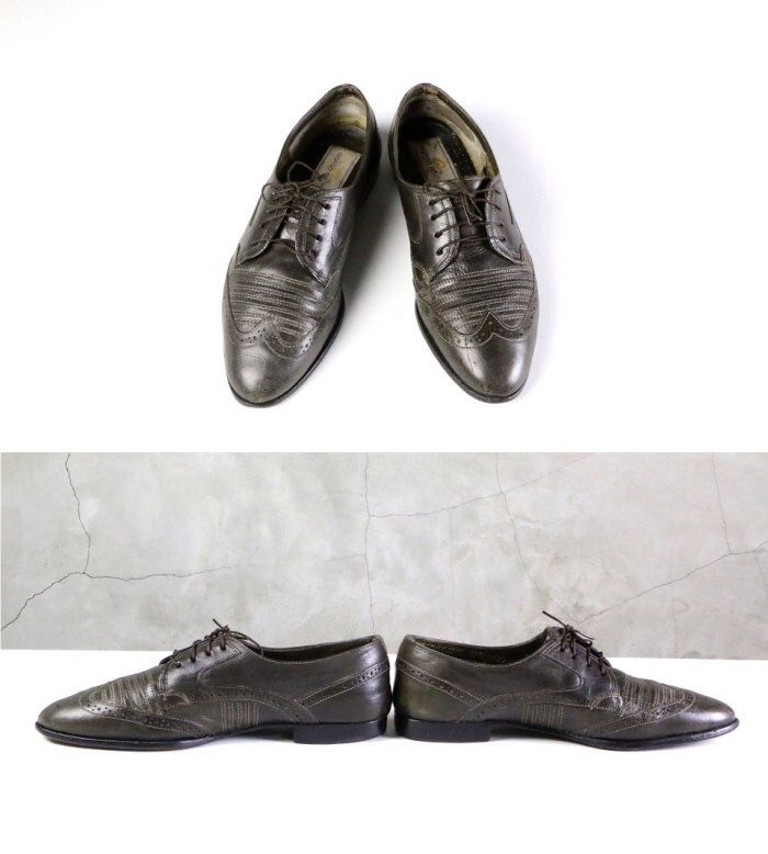 men's brogues, 80's leather lace up wingtip oxford brogues, size 8 1/2 D / 42 EU by youngandukraine on Etsy https://www.etsy.com/listing/213632977/mens-brogues-80s-leather-lace-up-wingtip