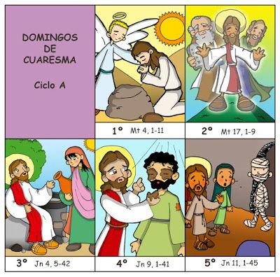 Dibujos para catequesis: DOMINGOS DE CUARESMA – CICLO A