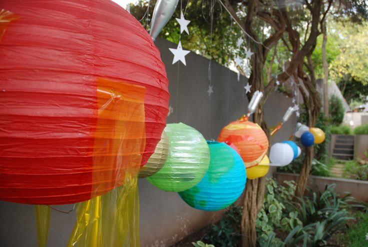 Planet party solar system lanterns