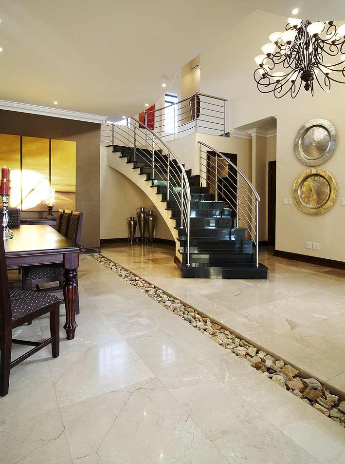 Natural Stone Floor Tiled House