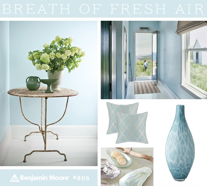 Pinterest the world s catalog of ideas for Benjamin moore breath of fresh air