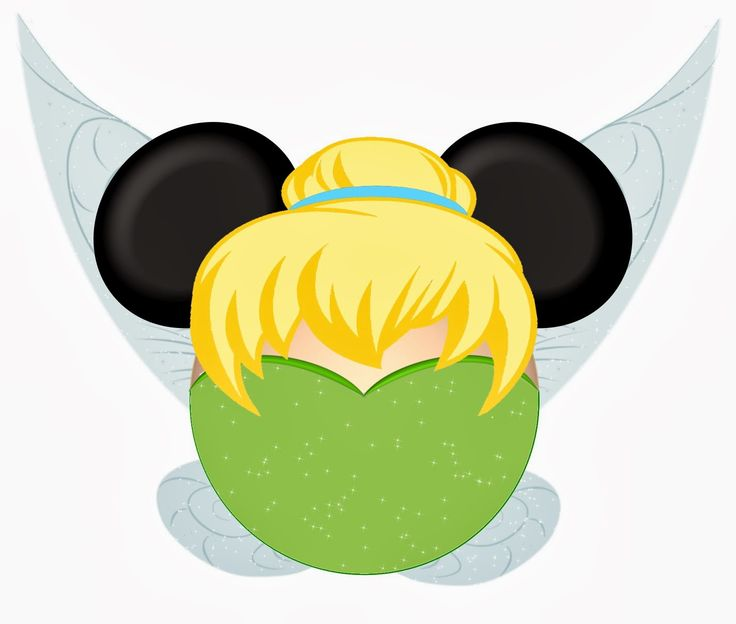 Tinkerbell and Friends in Mickey Heads.