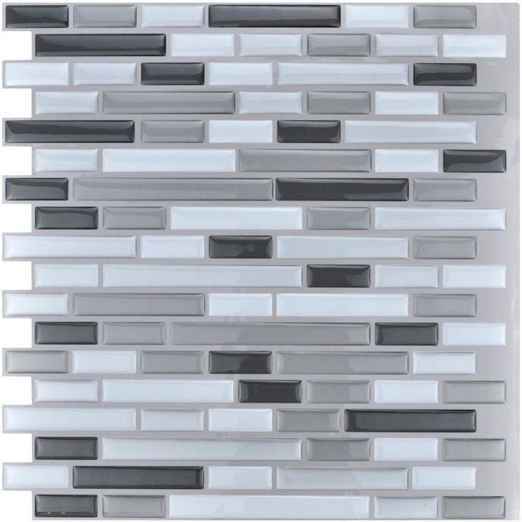 21+ Art3d 12x12 peel and stick backsplash tile for kitchen marble grey ideas in 2021
