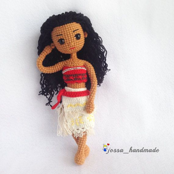 Crochet Doll Pattern  Disney Moana Princess by JossaHandmadeStore