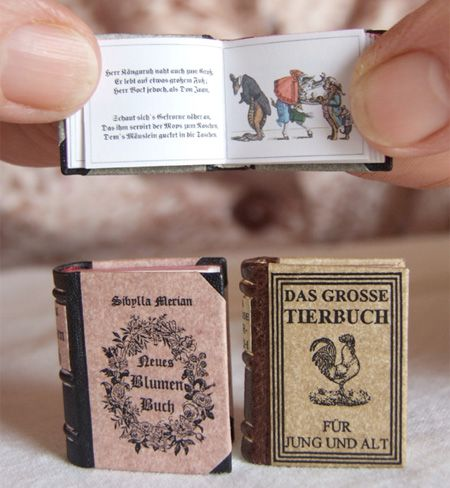 miniature books, art within art.