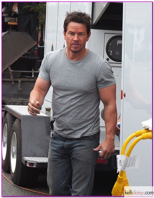 Mark Wahlberg On The Set Of 'Transformers 4'
