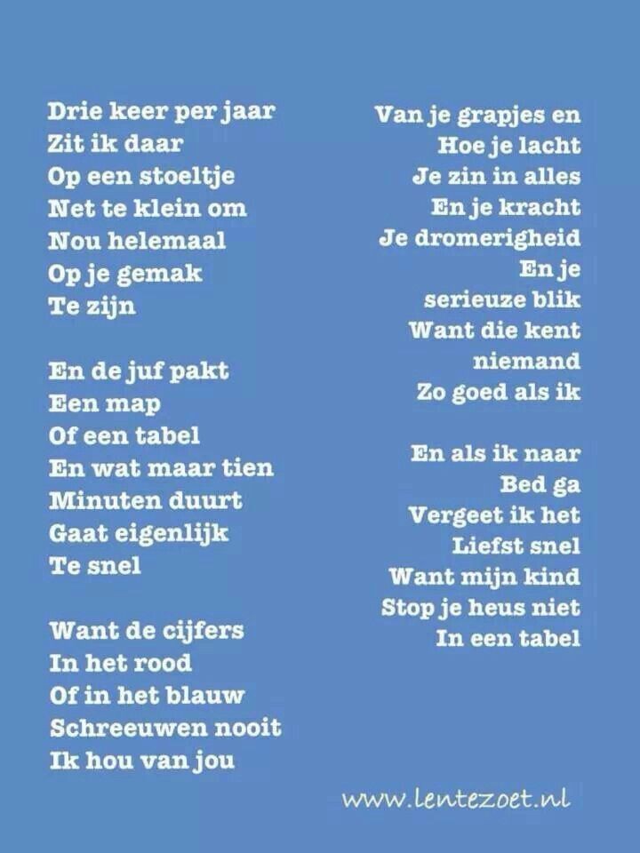 Gedicht over oudercontact