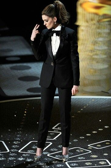 We love Tuxedos for women.                                                                                                                                                                                 More