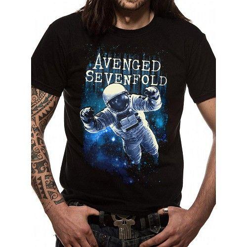 Avenged Sevenfold - Spaceman Logo heren unisex T-shirt zwart - Band merchandise