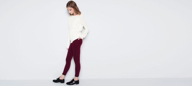 COLOURED SKINNY TROUSERS - TROUSERS AND SHORTS - WOMAN - PULL&BEAR Poland