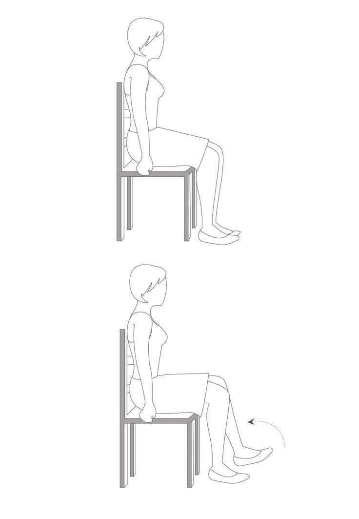Les 25 meilleures id es de la cat gorie exercices en for Chaise dos droit