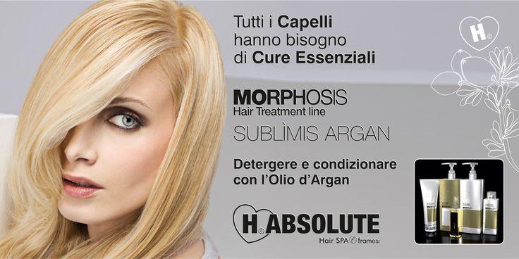 Tutti i #Capelli hanno bisogno di Cure Essenziali ... MORPHOSIS SUBLÌMIS anche i gesti più essenziali acquistano una fondamentale importanza per il benessere e la bellezza dei capelli. clicca http://www.habsolute.it/saloni/ trova l' #HABSOLUTEpoint a te più vicino  e chiedi #MORPHOSIS SUBLÌMIS #ARGAN HABSOLUTE HAIR SPA