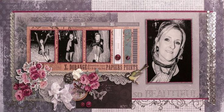Glenda from SA Scrapbook Convention layout featuring Heritage and Bella! Year In Review