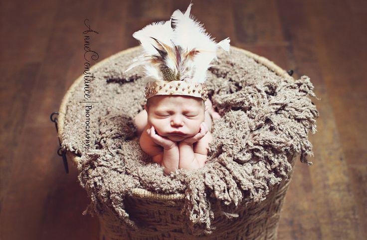 Newborn Native American Inspired Headdress By