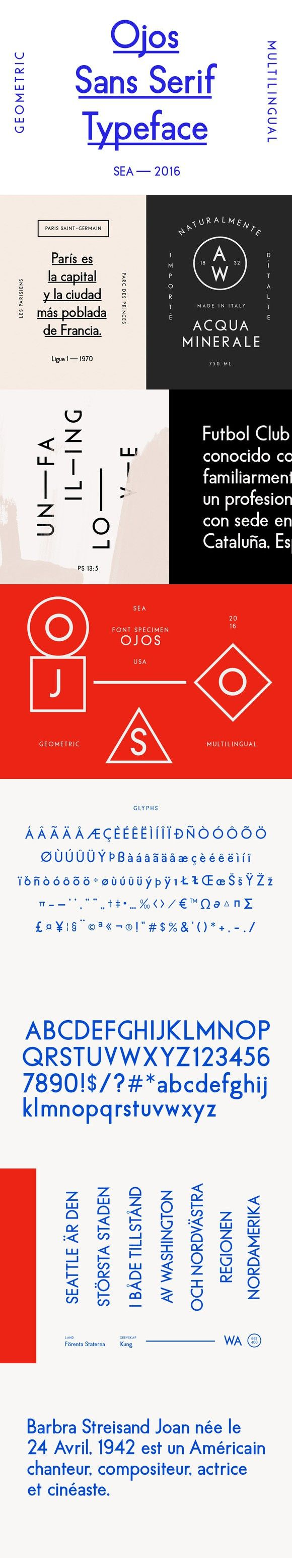 Ojos Sans Serif Font. Sans Serif Fonts. $29.00