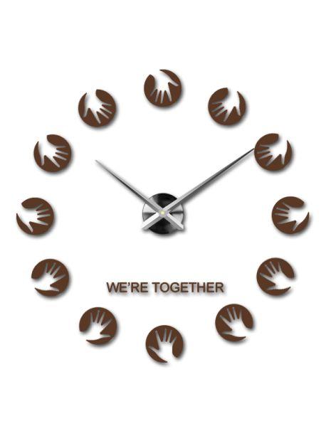 Ceasuri frumoase de perete maro - Palmele mamei Referinta  12S016-RAL8011-S-COLOR** Alege o culoare de unul singur! Timpul a venit mult mai confortabil REALIT ceas nou. 3D Ceas de perete mare este un decor frumos al interiorului. Nu vei fi niciodată târziu.