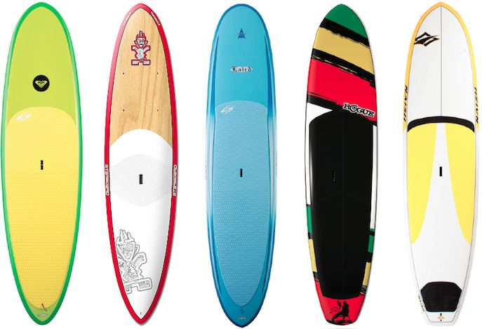 SUPs: Roxy, Starboard, Laird, Surftech, Rogue, Naish