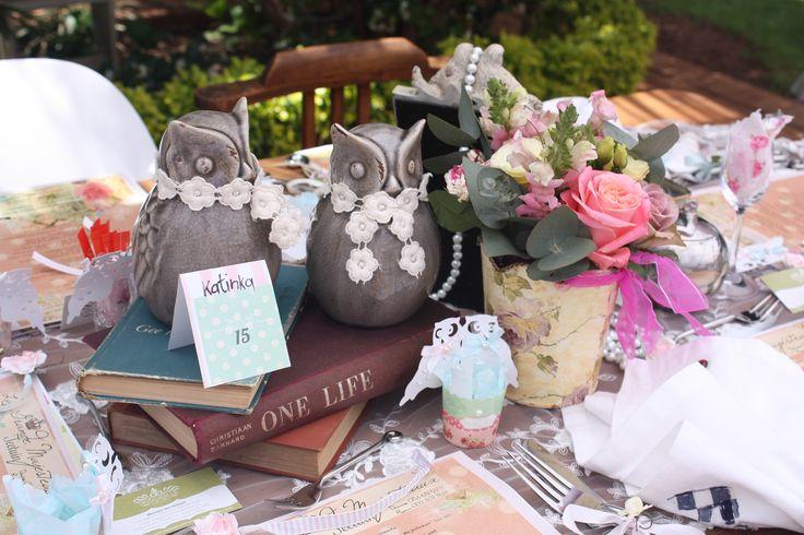 Tea table setting