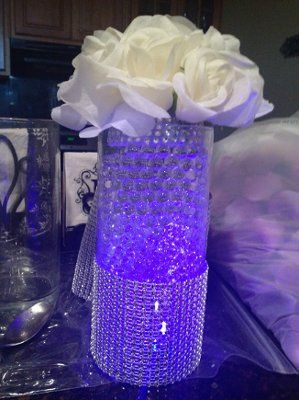 roses with bling centerpiece ideas - Google Search