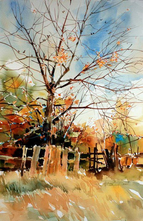 I could do this as a pen&ink and watercolour combo