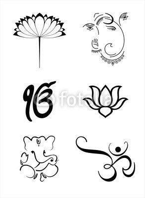 Vector: Ganesh, Aum , lotus , Hinduism , India