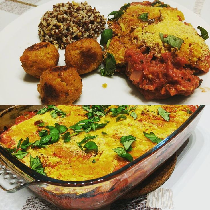 Aubergine parmigiani  Recept uit kookboek: Vegan van sue quinn