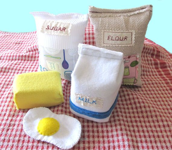 Backset Filz Filz Food Set Lebensmittel Spielset Backen