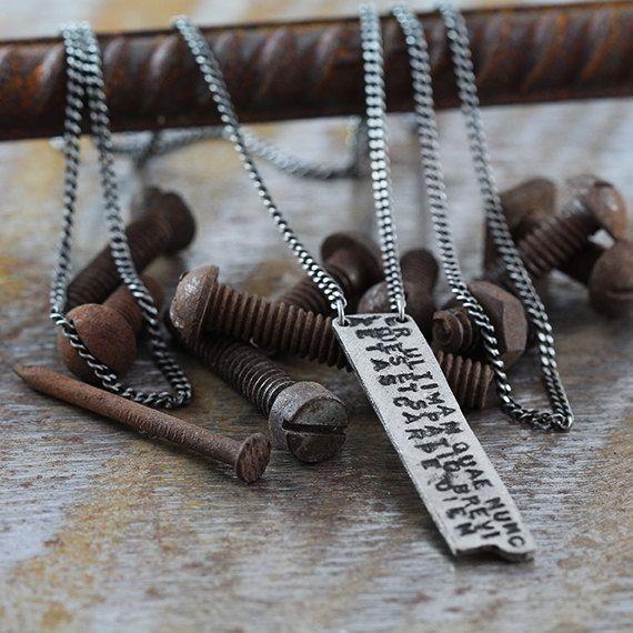 Carpe Diem Necklace Hand Stamped Personalized Custom Pendant