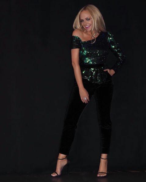 Spice Girl, Emma Bunton, looking absolutely fabulous in a CRISTALLINI sequins jumpsuit. ❤️❤️❤️ #cristallini #celebrity #alert #spicegirls