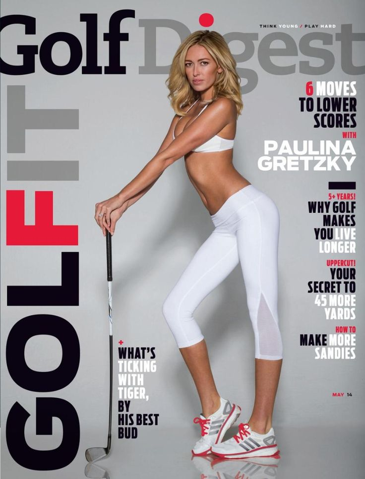 Paulina Gretzky in the May 2014 issue of Golf Digest.
