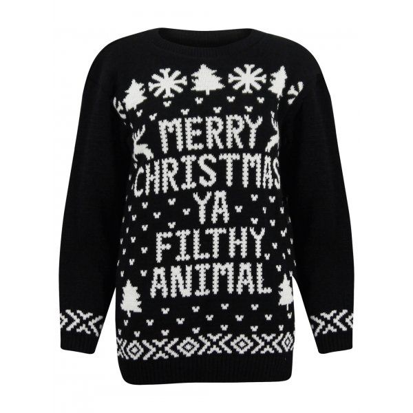 Black Marry Christmas Jumper