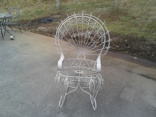 Antique Peacock Rocking Chair | eBay