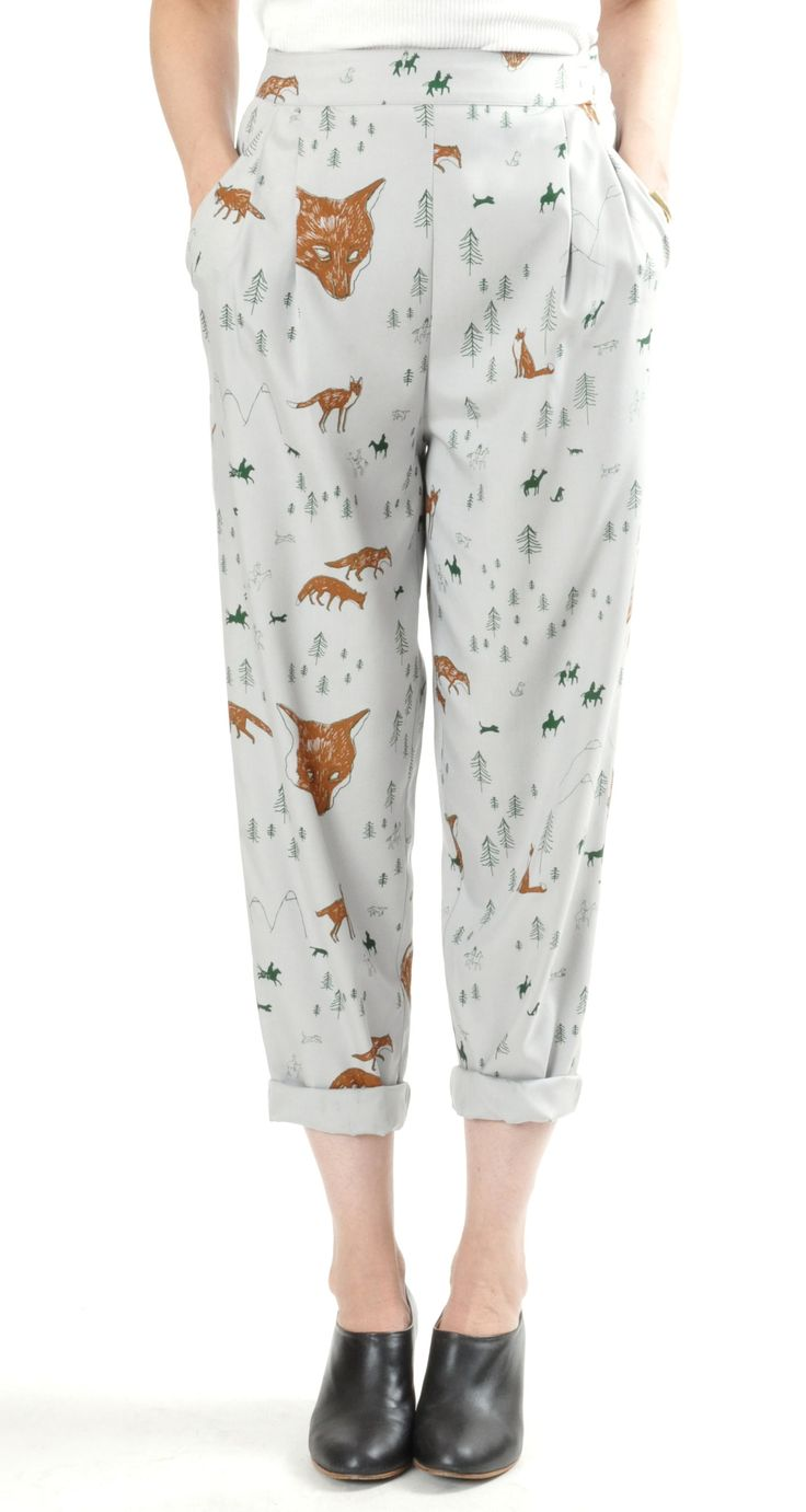 'In God We Trust' Soft Fox Pants Trousers