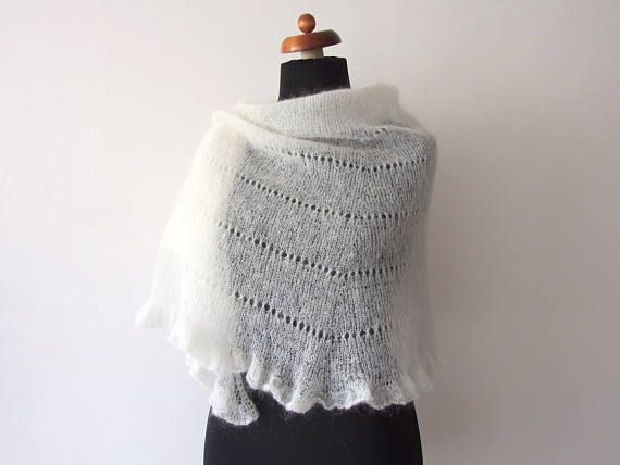 #Sale 25% off plus #freeshipping: hand knit ecru #bridal wrap with ruffle  http://etsy.me/2Cwrvcz via @Etsy #onsale #wedding #forthebride #handmade #weddingfashion #mohairshawl #ruffleshawl #ecru #weddingshawl #bridalshawl