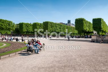 Le Jardin du Luxembourg, Paris Royalty Free Stock Photo
