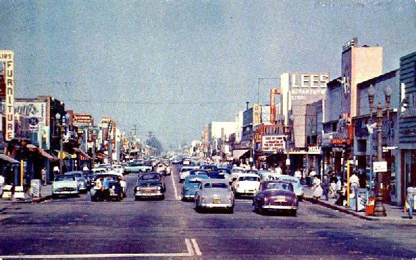 Compton, CA....This view is Compton Blvd early 50's,