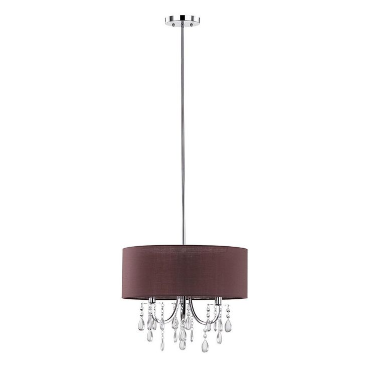 Safavieh Contessa Crystal Drum Pendant Light, Grey Other