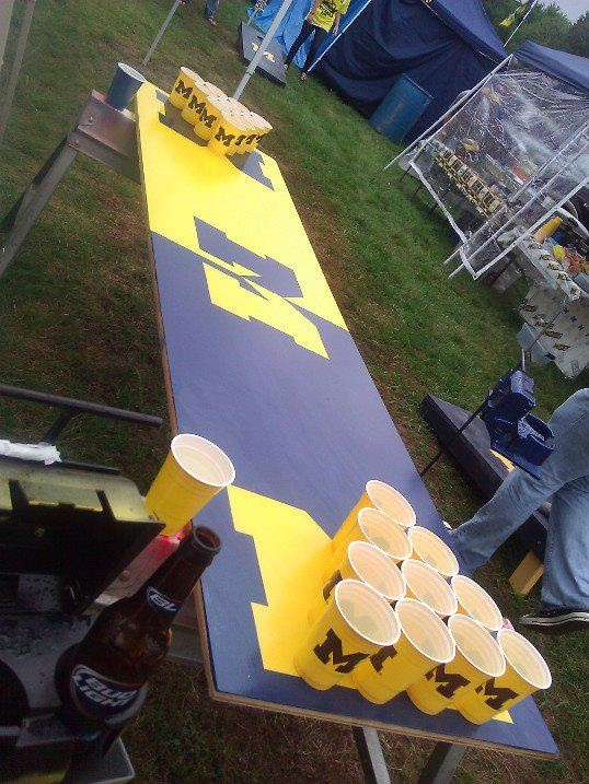 The BEST beer pong table & cups! #UltimateTailgate #Fanatics