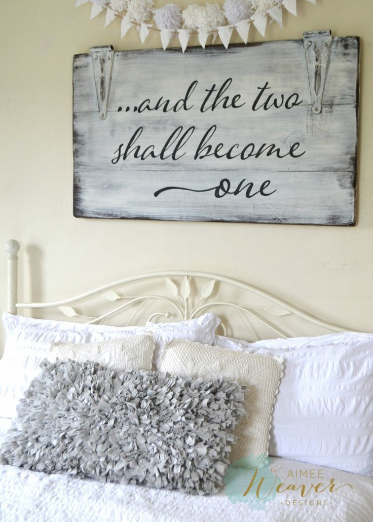And the two shall become one | wood sign by Aimee Weaver Designs