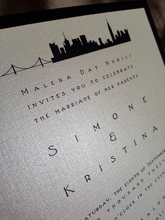 Ana And Christians Wedding Invitations City Skyline By Take Note Perfect For An Urban Chic Showcasing The You Love