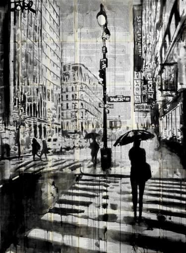 """Saatchi Art Artist Loui Jover; Drawing, """"manhattan moment"""" #art"""