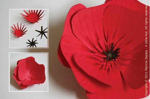 Mindennapi inspiráció: Piros Papír Pipacs