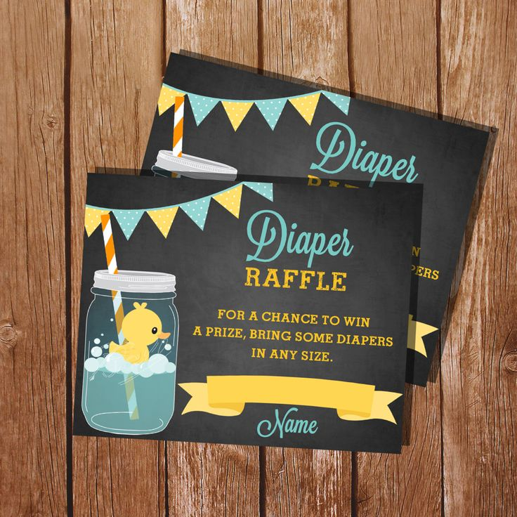 Mason Jar Rubber Duck Baby Shower Diaper Raffle Cards - Instant Download and Editable File - Personalize at home with Adobe Reader by SunshineParties on Etsy https://www.etsy.com/listing/226907332/mason-jar-rubber-duck-baby-shower-diaper