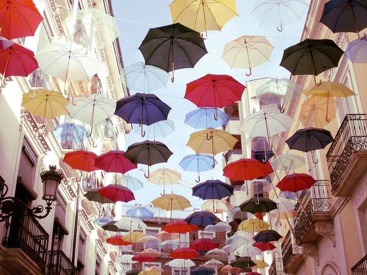 Umbrella street / Alicante, Spain