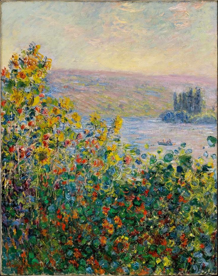 Claude Monet - Flower Beds at Vétheuil, 1881.