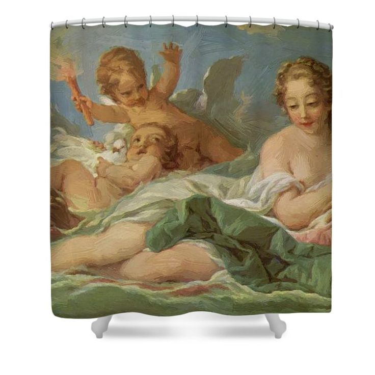 Birth Shower Curtain featuring the painting Birth Of Venus by Boucher Francois